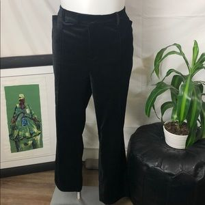 ModCloth | Women's Black Velvet Trousers